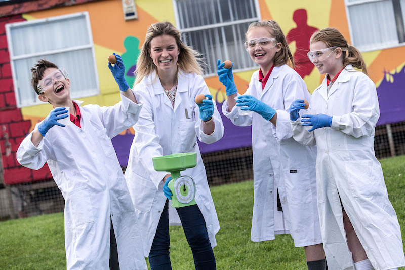 Ulster University biology students go back to school for Biology Week