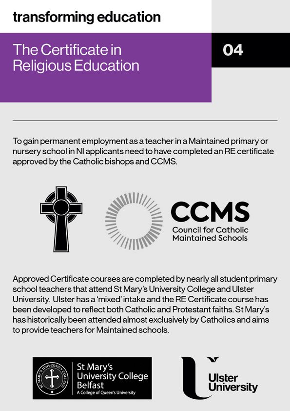 Infographic - The Certificate in Religious Education