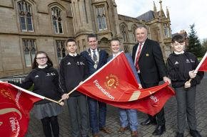Ulster University sign 3-year partnership with Manchester United Foundation to engage and inspire the next generation of entrepreneurs