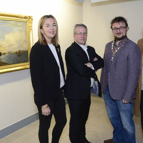 Unveiling of 'Art Unwrapped' special exhibition as Christmas gift to the city of Belfast