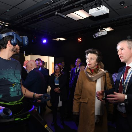 Princess Anne opens Ulster University's new Spatial Computing and Neurotechnology Innovation Hub