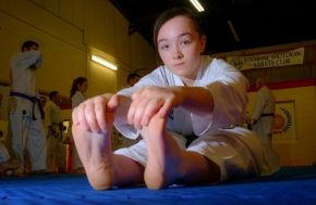 Karate star striking for success after graduation