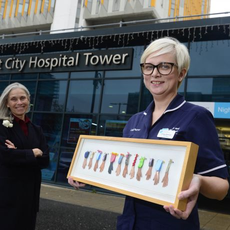 Ulster University students show their support for COVID-19 healthcare workers with handmade medals