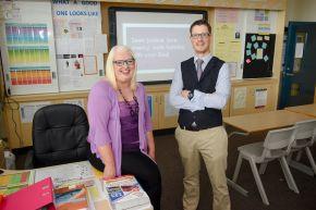 Husband and wife teachers celebrate graduation success at Ulster University