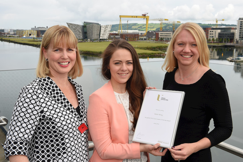 Ulster University EDGE Excel student of the year wins Baker & McKenzie prize
