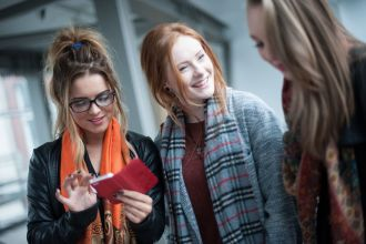Students at Belfast campus