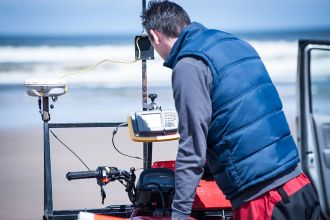 lster University researchers undertake beach surveying