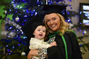 New mum Shona graduates from Ulster University after giving birth on final exam date