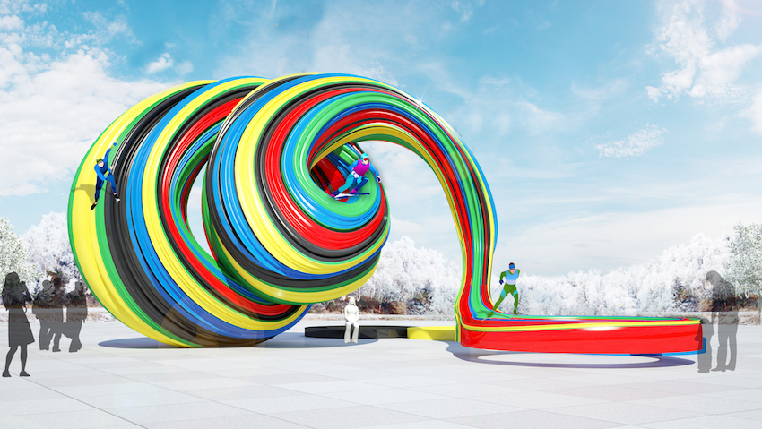 Ulster University artist designs public art sculpture for 2018 Winter Olympics