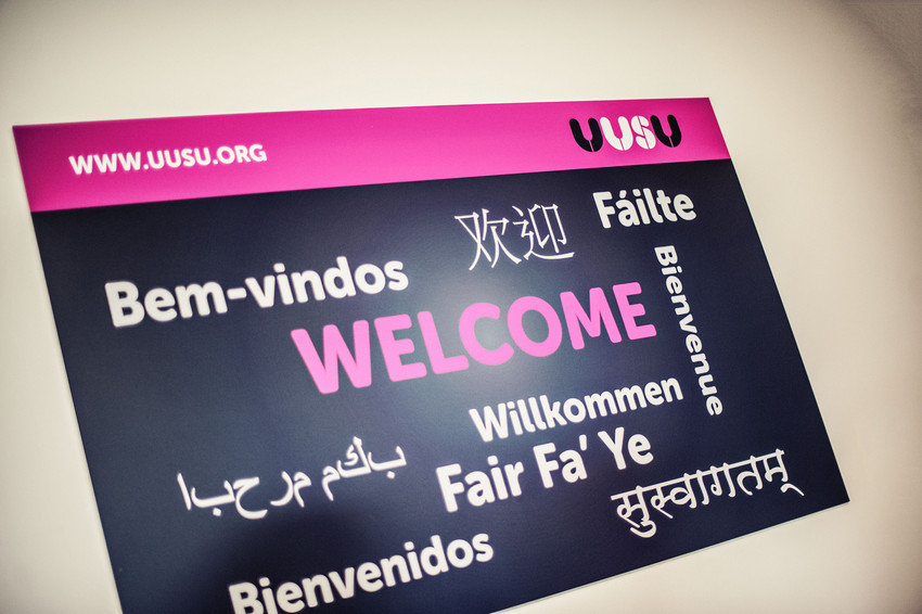 SU welcome sign