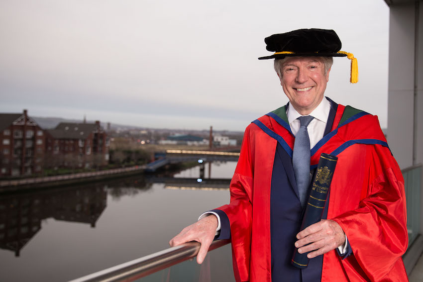 Ulster University honours Tony Hall for his civic contribution in transforming the BBC