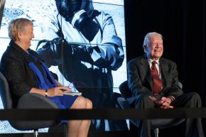 Monica and Jimmy Carter