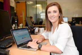 Laura McKeague is preparing to embark on her new career in the technology industry with Kainos.