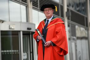 PSNI Chief Constable Sir George Hamilton receives honorary degree from Ulster University