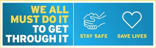 Stay safe, save lives logo image