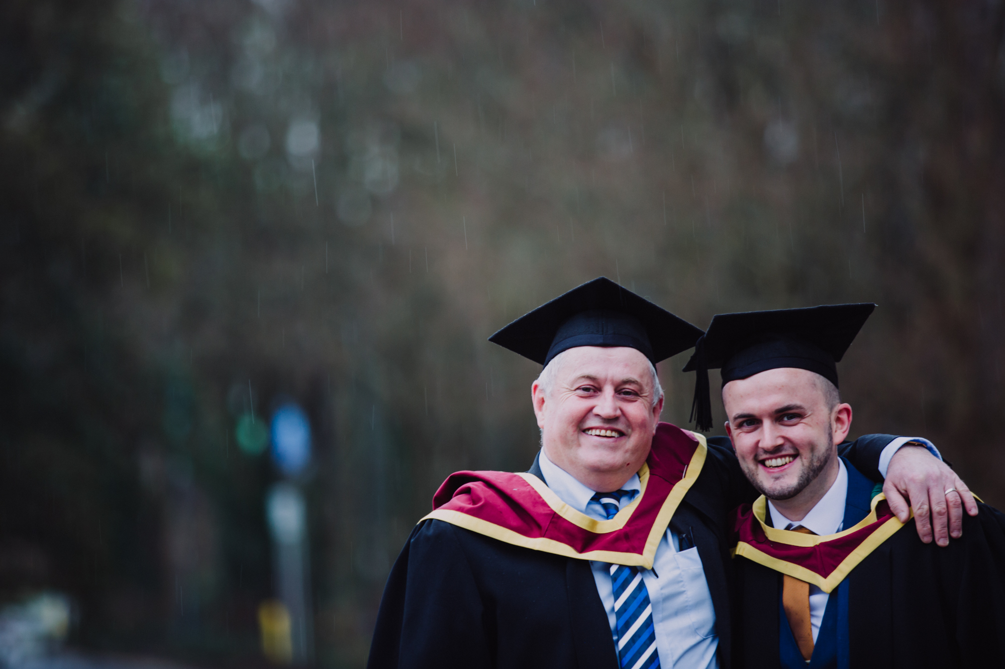 Family Affair for Father and Son Business Graduates