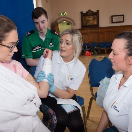 Ulster University nursing students lead on Community Resilience simulation
