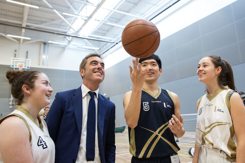 Ulster University Chancellor officially opens £5.1m sports complex