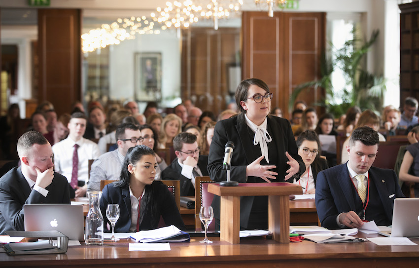 Ulster University law students present to five UK Supreme Court justices