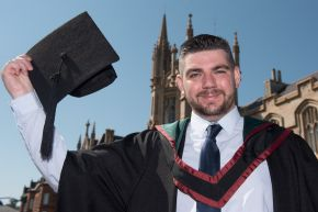 Cancer survivor graduates with first class honours from Ulster University