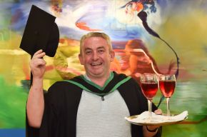 Heartfelt celebrations for Ulster University Graduate