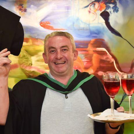 Heartfelt celebrations for Ulster University Graduate