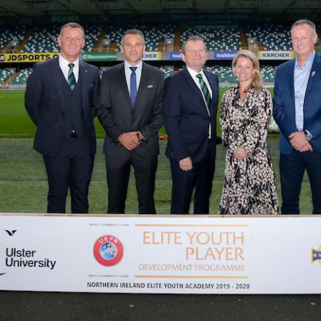 Ulster University hosts Northern Ireland's first elite youth football academy