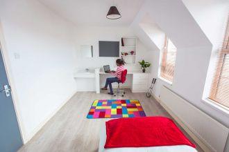 Bedroom in Agherton Village (2-6 bed flats)