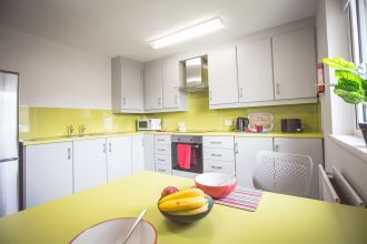 Kitchen area in 1 bed apartment (suitable for 1-2 persons)