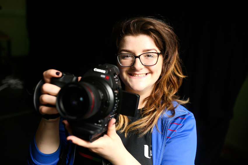 Aspiring young film maker one of the first to graduate from Ulster University's new Cinematic Arts course