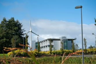 SAAD building and turbine