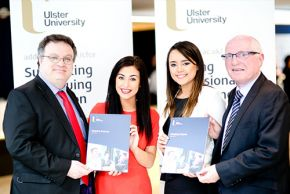 Stephen Farry and Ulster University students