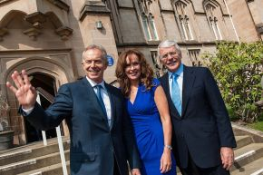 Tony Blair, Deirdre Heenan and John Major