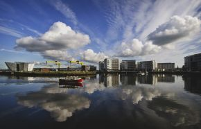 Belfast scene on lagan