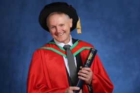 Ireland rugby coach receives honorary degree from Ulster University