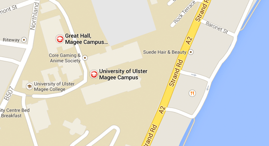 Map with directions to Magee campus