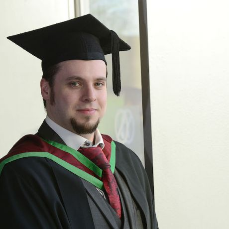 Father of two graduates with newfound sense of direction