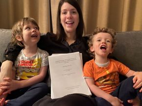 Two kids, a pandemic and a successfully completed PhD