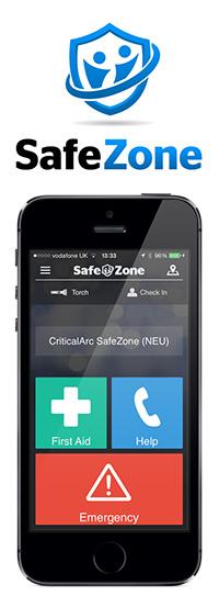 SafeZone mobile app