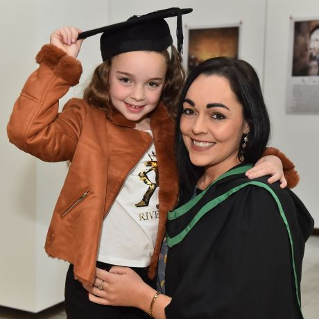 Determined young mother overcomes debilitating health condition to graduate from Ulster University