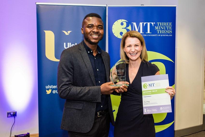 Oluwashina Akinsanmi named winner of Ulster University's 3MT® Final