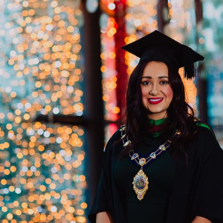 Ulster University student swaps mayoral robes for graduation gown