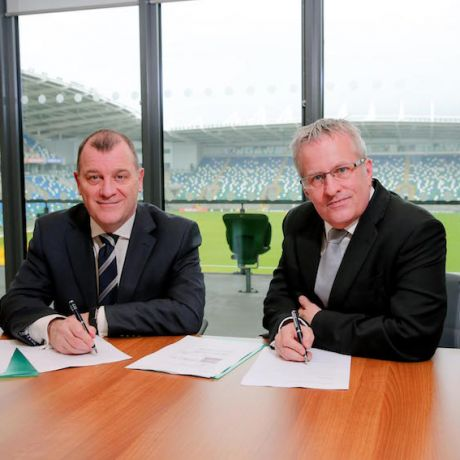Partnership between Ulster University and Irish FA continues to grow