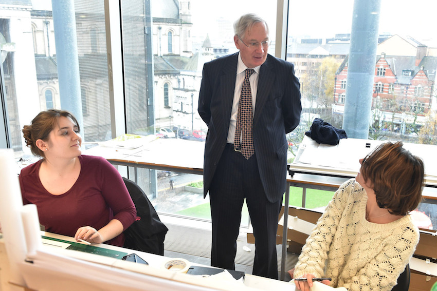 Duke of Gloucester visits Ulster University
