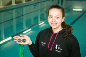 Irish swimming champion set to make a splash after graduation