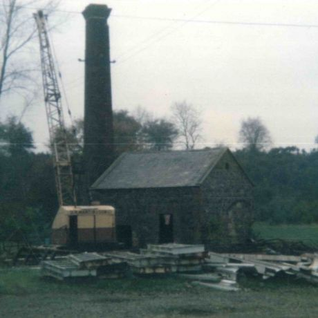 Photograph showing a Scutch Mill and Storage Building