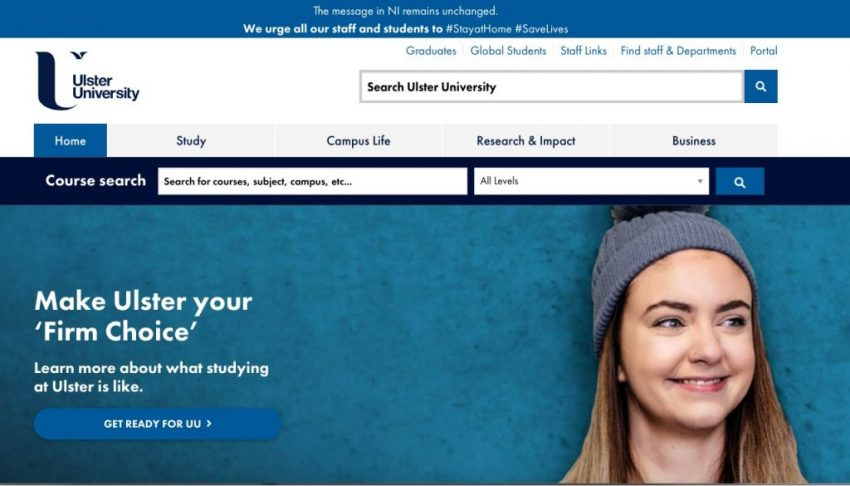 Ulster University website ranks Top 10 in Accessibility across the UK
