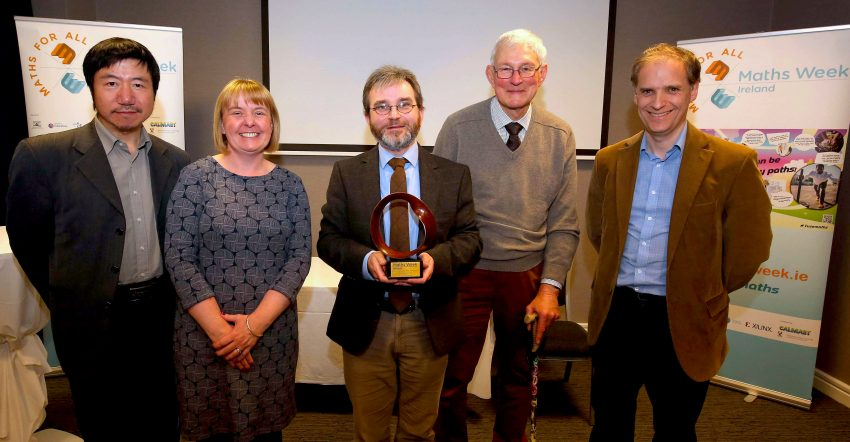 Maths Week honour for Dr Mark McCartney, Ulster University Lecturer and Maths Author